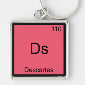 Ds - Descartes Funny Chemistry Element Symbol Tee Keychain