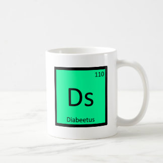 Ds - Diabeetus Meme Chemistry Periodic Table Coffee Mug