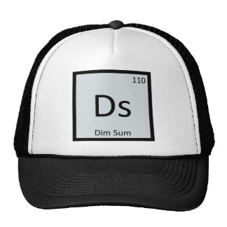 Ds - Dim Sum Chinese Chemistry Periodic Table Mesh Hat