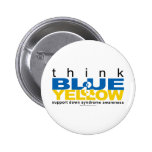 DS Think Blue and Yellow Button