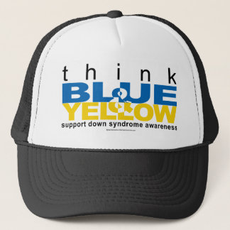 DS Think Blue and Yellow Trucker Hat