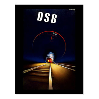 DSB Danske Statsbaner Danish State Railways Train Postcard