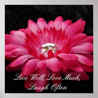 DSC00005 (2), Live Well, Love Much, Laugh Often Poster