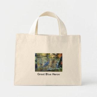 DSC00079 copy, Great Blue Heron Mini Tote Bag
