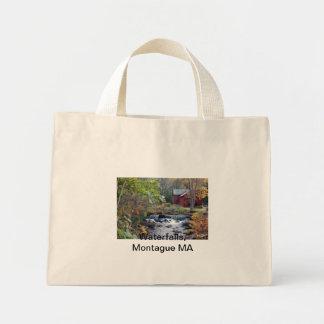 DSC00138 copy, Waterfalls, Montague MA Mini Tote Bag