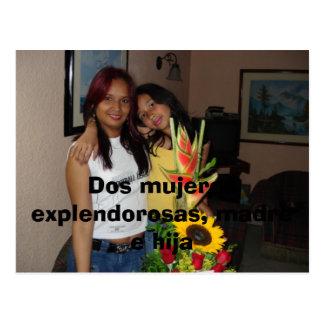 DSC00166, Dos mujeres explendorosas, madre e hija Postcard