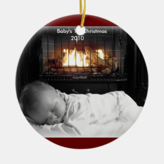 DSC00195, Baby's 1st Christmas, 2010 Ceramic Ornament