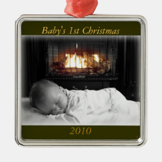 DSC00195, Baby's 1st Christmas, 2010 Metal Ornament