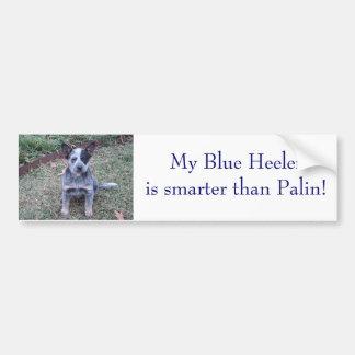 DSC00254, My Blue Heeleris smarter than Palin! Bumper Sticker