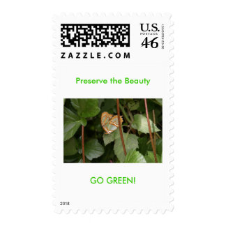 DSC00459 Preserve the Beauty GO GREEN Postage