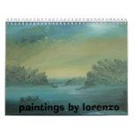DSC00462, paintings by lorenzo Wall Calendar