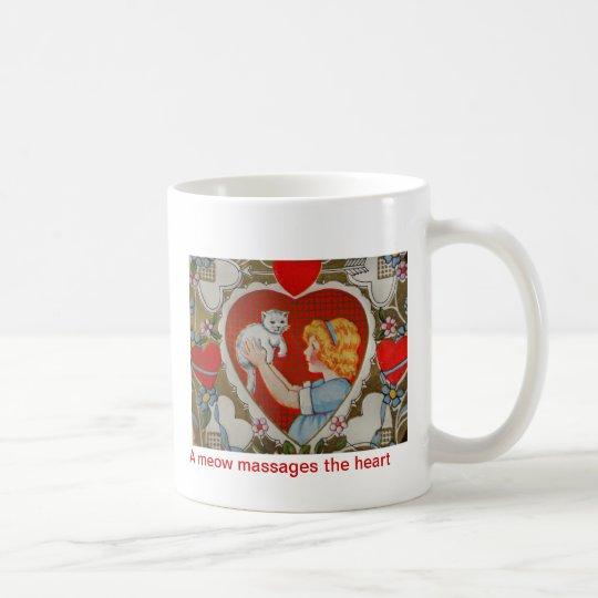 DSC00486, A meow massages the heart Coffee Mug