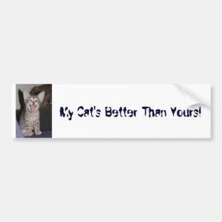 DSC02661, My Cat's Better Than Yours! Car Bumper Sticker