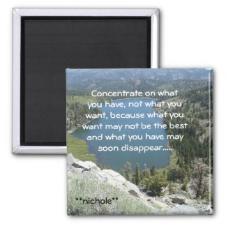DSC02790, Concentrate on whatyou have, not what... 2 Inch Square Magnet