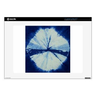 """DSC03486.JPG round indigo circle art 15"""" Laptop Skins"""