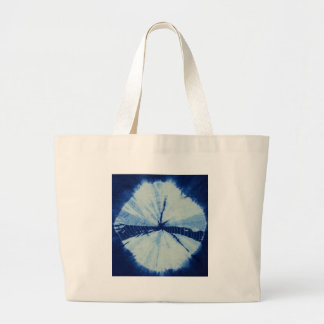 DSC03486.JPG round indigo circle art Large Tote Bag