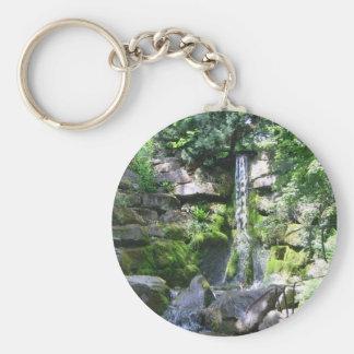 DSC03942 Waterfall Basic Round Button Keychain
