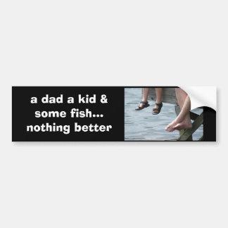 DSC09205 flickr, a dad a kid & some fish Bumper Sticker