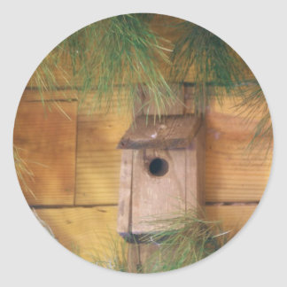 DSC09575.JPG  Bird House Classic Round Sticker