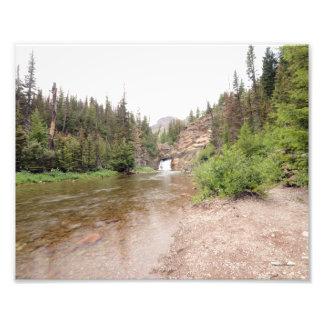 DSC-0012 8-12 Running Eagle falls in Glacier Photo Print