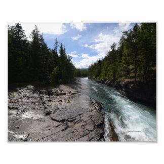 DSC 0018 8/12 McDonald Falls Glacier National Park Photo Print