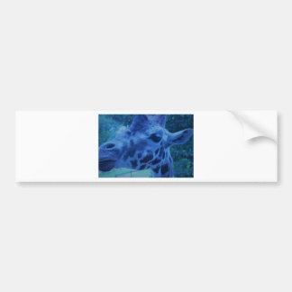 DSC_0729 (3).JPG Blue Giraffe by Jane Howarth Bumper Sticker