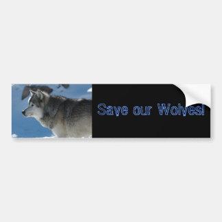 DSC_2009, Save our Wolves! Car Bumper Sticker
