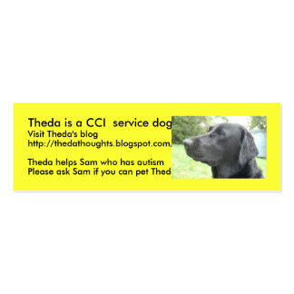DSC_2720, Theda is a CCI  service dog , Visit T... Mini Business Card