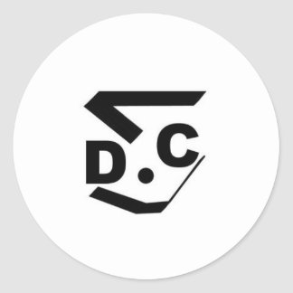 dsc-logo classic round sticker