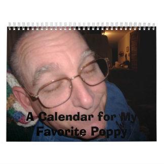 DSCF0001, A Calendar for My Favorite Poppy