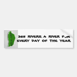 DSCF0166, 365  RIVERS. A  RIVER  FOR  EVERY  DA... CAR BUMPER STICKER