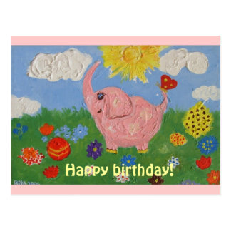 DSCF4835, Happy birthday!, Happy birthday! Postcard