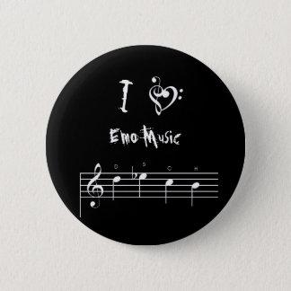 dsch, treblebassheart, I, Emo Music Pinback Button