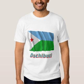 Dschibuti Fliegende Flagge mit Namen T-shirt
