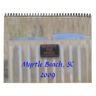 DSCI1291, Myrtle Beach, SC2009 Calendar