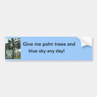 DSCN0335_269, me dan las palmeras y, cielo azul… Pegatina Para Auto