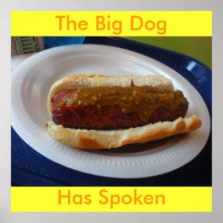 DSCN0563, el perro grande, ha hablado Póster
