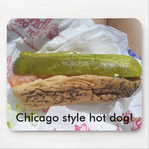 ¡DSCN1075, perrito caliente del estilo de Chicago! Mouse Pads