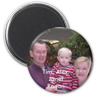 DSCN1656, Tim, Alex, Janet Ragan 2 Inch Round Magnet