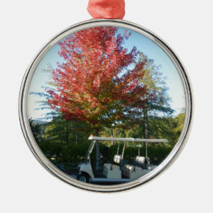 jpg golf cart at big canoe metal ornament