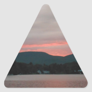 DSCN5689.JPG Sunset in the Berkshire Mountains Triangle Sticker
