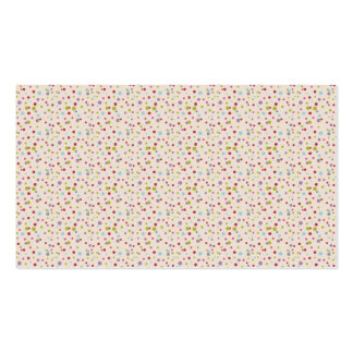 DSFBTPD POLKADOTS POLKA DOTS CIRCLES COLORFUL PATT Double-Sided STANDARD BUSINESS CARDS (Pack OF 100)