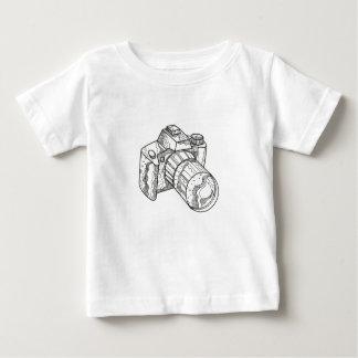 DSLR Camera Doodle Art Baby T-Shirt