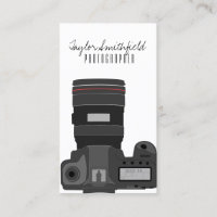 DSLR camera modern photography business card
