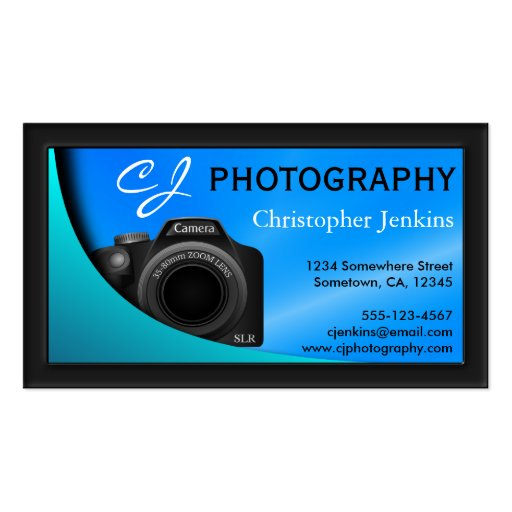 DSLR Camera Photographer Photography Business Card Business Cards