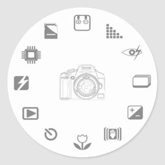 DSLR Feature Classic Round Sticker