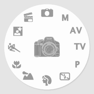 DSLR Mode Classic Round Sticker