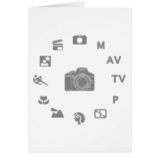 DSLR Mode Greeting Card