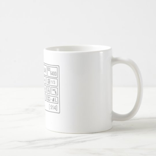 DSLR Setting Coffee Mug
