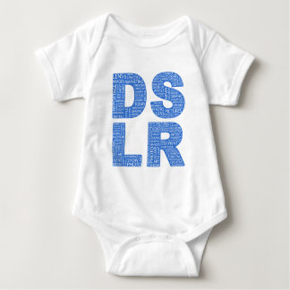 DSLR Type Typo Text Baby Bodysuit